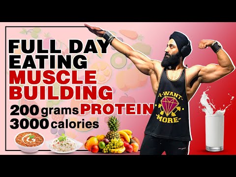 Full Day Of Eating For Muscle Building | Indian Bodybuilding Diet Plan