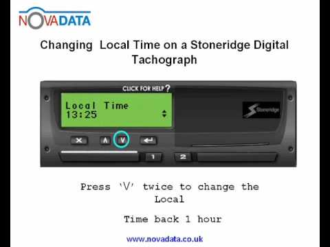 how to change time on a stoneridge digital tachograph. Black Bedroom Furniture Sets. Home Design Ideas