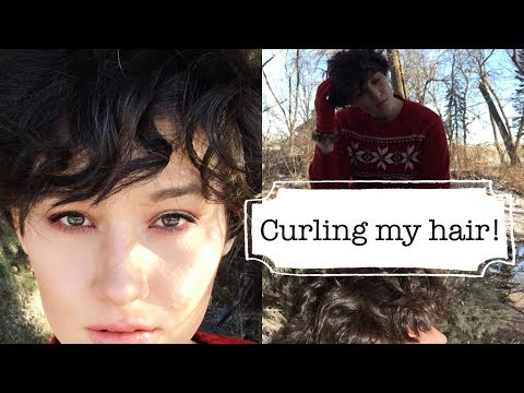 Curling my hair. A day at home vlog
