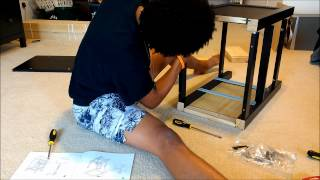 Assembling An Ikea 2 Drawer Nightstand. Hemnes