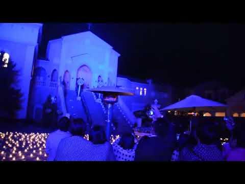 ピアザララルーチェ【結婚式演出】打上花火&レーザーマッピングショー