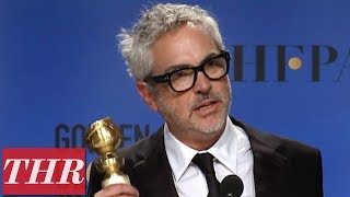 Golden Globes Winner Alfonso Cuarón Full Press Room Speech | THR