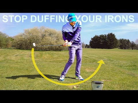 The best IRON striking GOLF SWING drills stop duffing iron shots