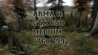 arma ii benchmark 1 medium high evga gtx 650 i5 3450 1768x992
