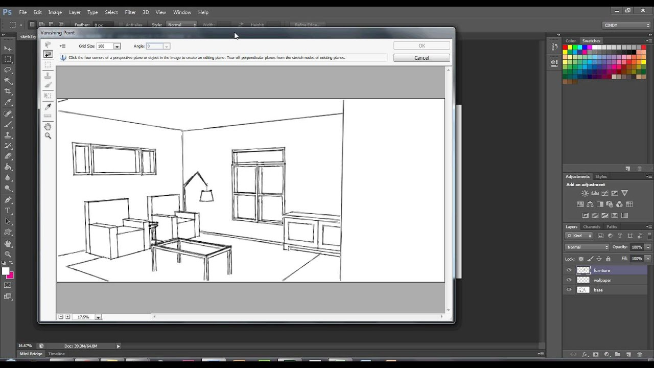 Vanishing Point with Photoshop for interior rendering ...