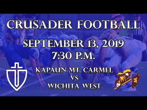 Kapaun Mt. Carmel Football Vs Wichita West 9/13