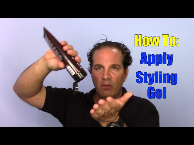How To Use And Apply Hair Gel Youtube