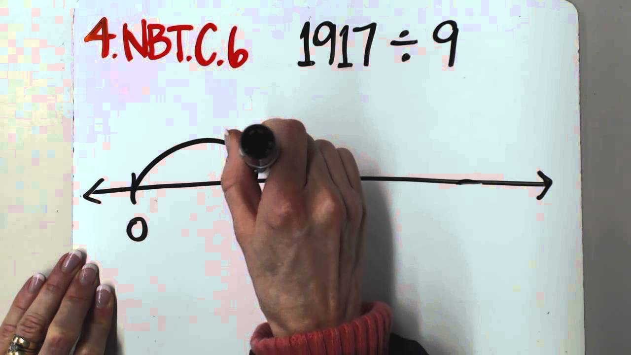 4.NBT.B.6 Whole Number Division with Number Line - YouTube