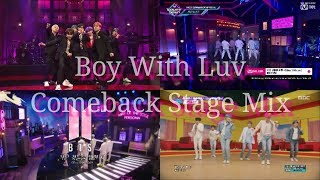 BTS - Boy With Luv Comeback Stage Mix (Mnet , MBC , KBS , SNL)