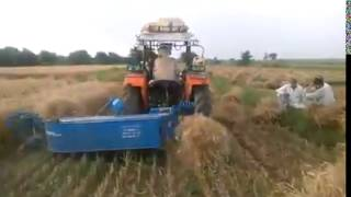 गेंहू कटाई का कृषि यंत्र  Harvesting wheat farm