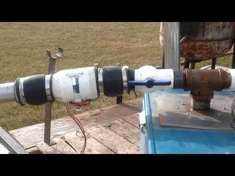 FEMA Gasifier running generator with new bio filter