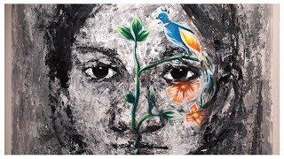 18th Asian Art Biennale Bangladesh 2018 | Impression | Acrylic on Paper | Art Exhibition