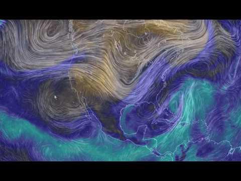 Relative Humidity And Potential Precipitation. Nullschool