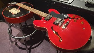 New Epiphone Dot ES-335 Cherry Guitar Up Close Video Review at Essex Recording Studios