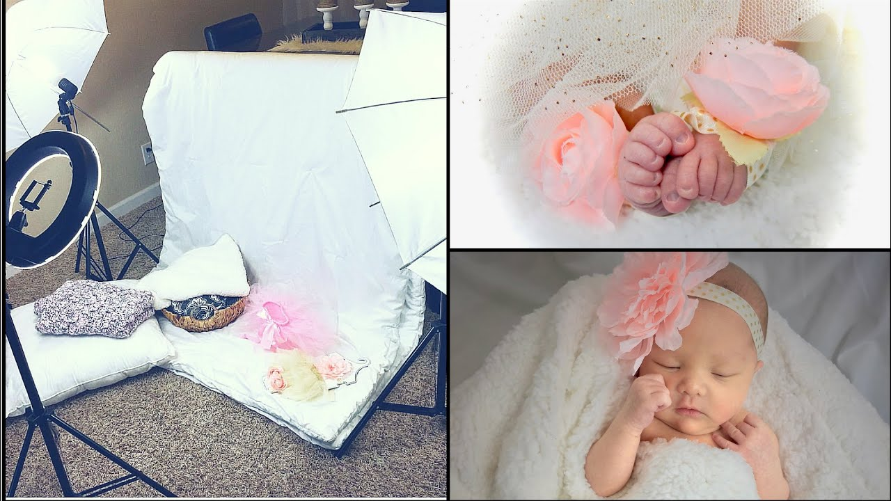 My diy newborn photo shoot