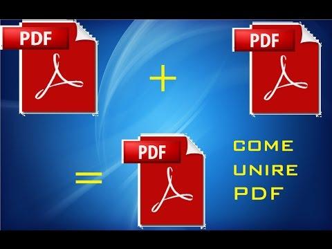 Unire PDF Senza Programmi GRATIS - GUIDA