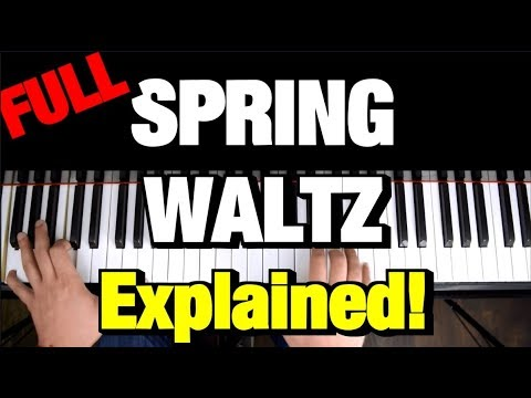 Chopin - Spring Waltz (Mariage d'Amour) - Piano Tutorial