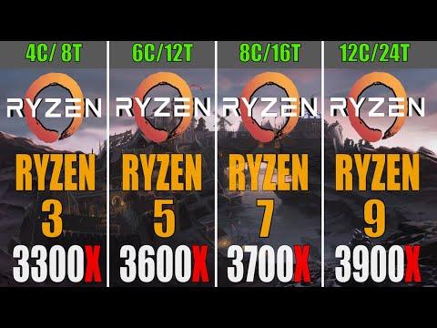 RYZEN 3 3300X vs RYZEN 5 3600X vs RYZEN 7 3700X vs RYZEN 9 3900X   PC GAMES TEST   1080P   1440P  