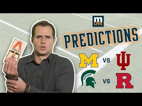 Final score predictions for Michigan-Indiana, MSU-Rutgers