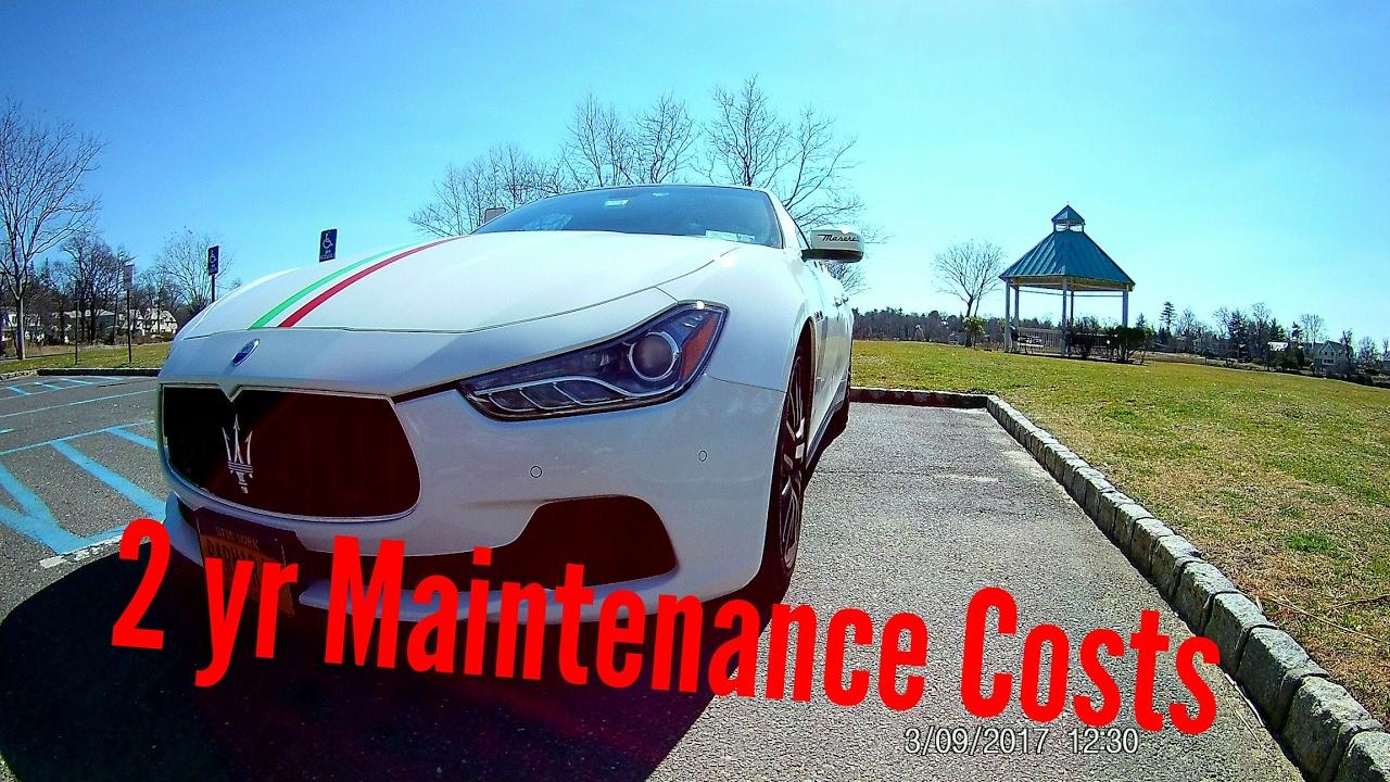 maserati ghibli s q4- 2nd year maintenance & ownership cost - youtube
