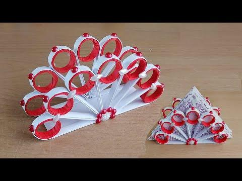 Kağıttan Peçetelik Yapımı / How to Make Paper Napkin Holder - Napkin Holder Ideas - DIY
