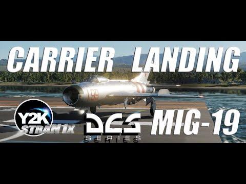 DCS World 4K - MiG-19P Carrier Landing To Admiral Kuznetsov -  - МиГ-19П Посадка на Адмирал Кузнецов