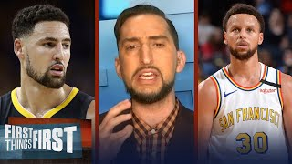 Steph Curry will have to carry offense without Klay — Nick on GSW season | NBA | FIRST THINGS FIRST