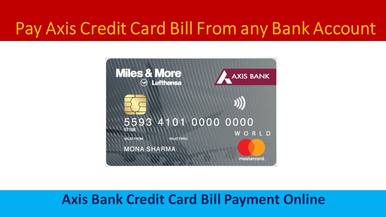 pay online axis bank credit card