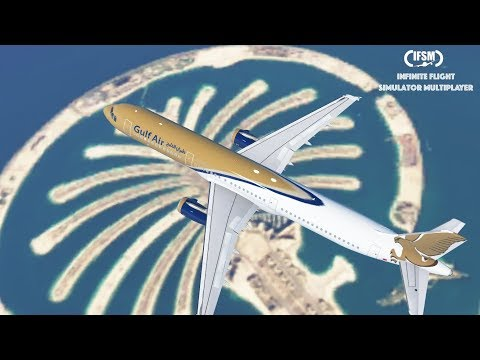 Infinite Flight Global Gulf Air Airbus A321 - Mumbai to Bahr