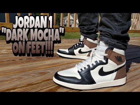 JORDAN 1 DARK MOCHA ON FEET REVIEW!!! THESE WILL BE A ...