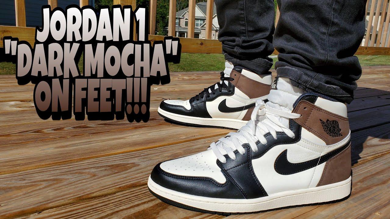 JORDAN 1 DARK MOCHA ON FEET REVIEW!!! THESE WILL BE A PROBLEM!!!
