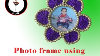 Making of beautiful photoframe using waste news papers