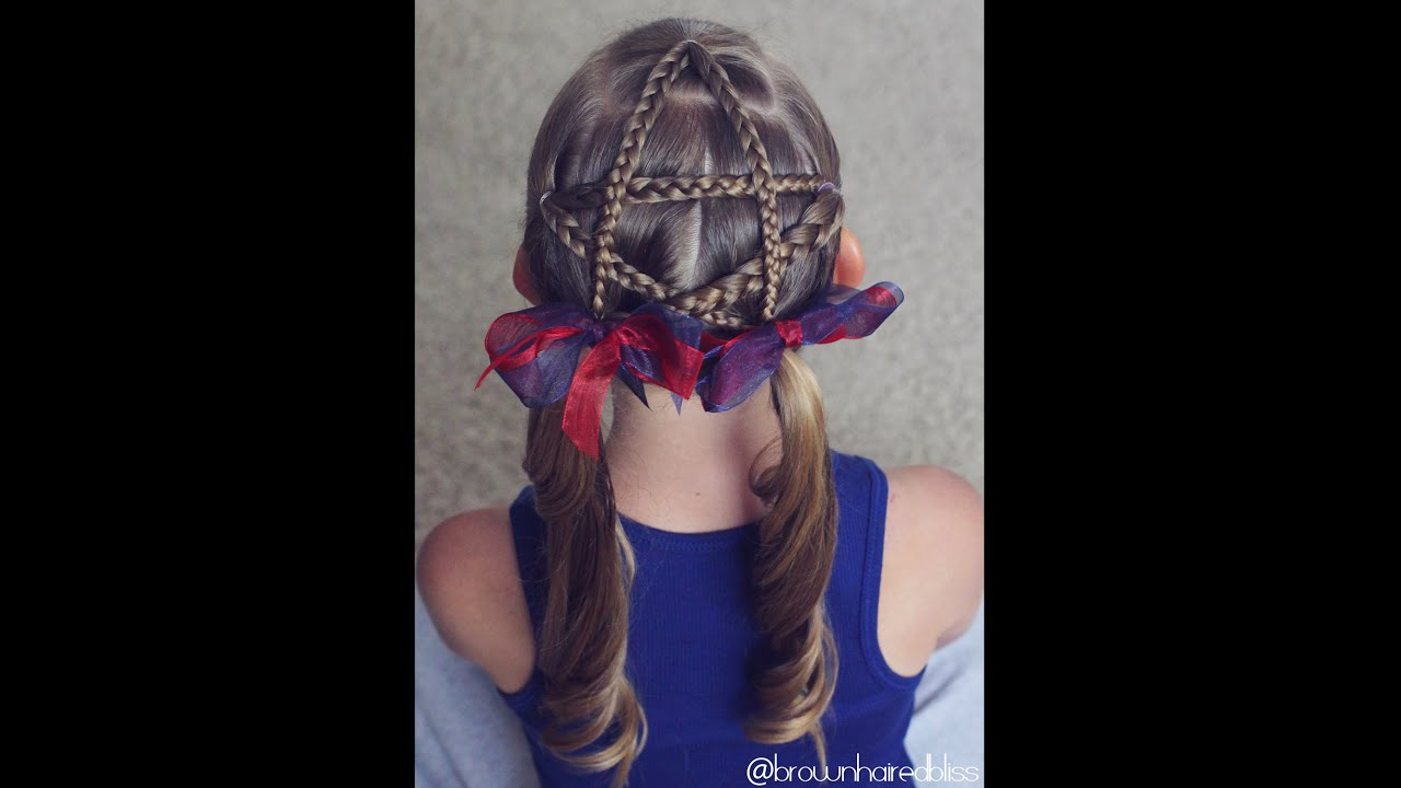 Fourth Of July Hairstyles How To Braided Star Tutorial 4th Of July Hairstyle Brown