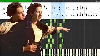 "Музыка из фильма ""Титаник"" My Heart Will Go On. Уроки игры на пианино."