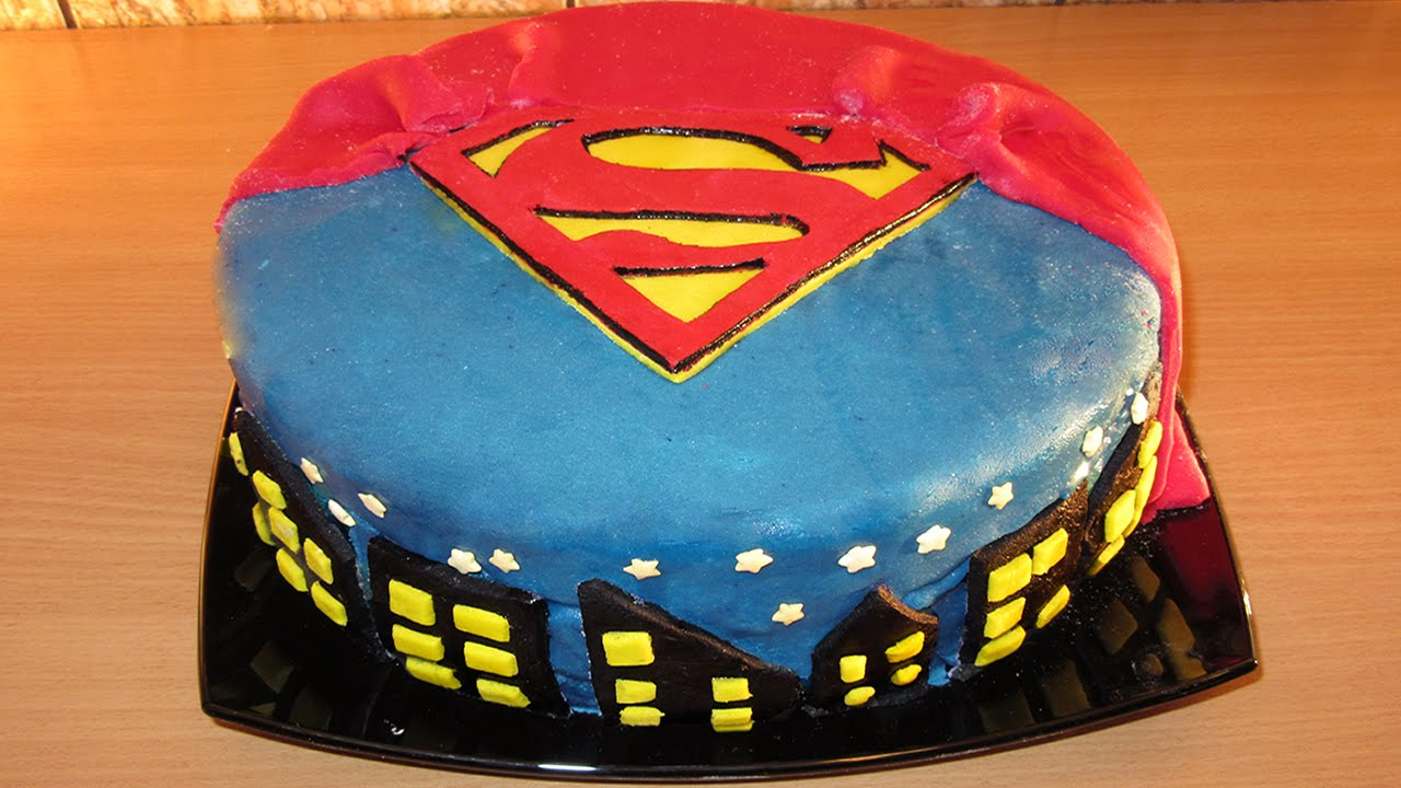 SUPERMAN FONDANT CAKE Fondant Cake Decorating For Beginners