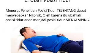Tidur Berdengkur mungking tanda penyakit yang merbahaya.