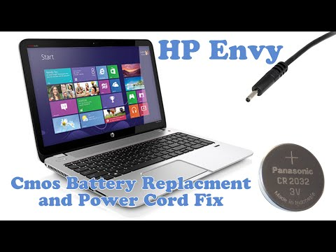 HP Envy - CMOS Battery Replacement and Power Cord fix - YouTube