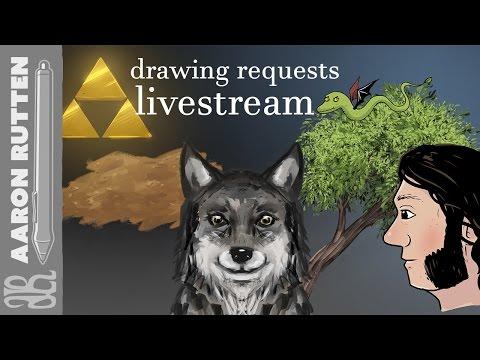  LIVE: Drawing Requests Live Stream (April 18th, 2017) - #DigitalArt