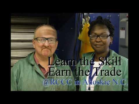 2013 welding recruiting video Roanoke Chowan Community College
