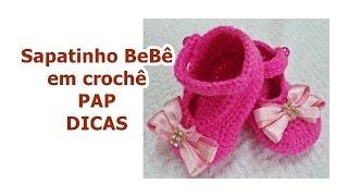 Sapatinho para Bebê em Crochê – Pés Direito/ Esquerdo – Graça Tristão