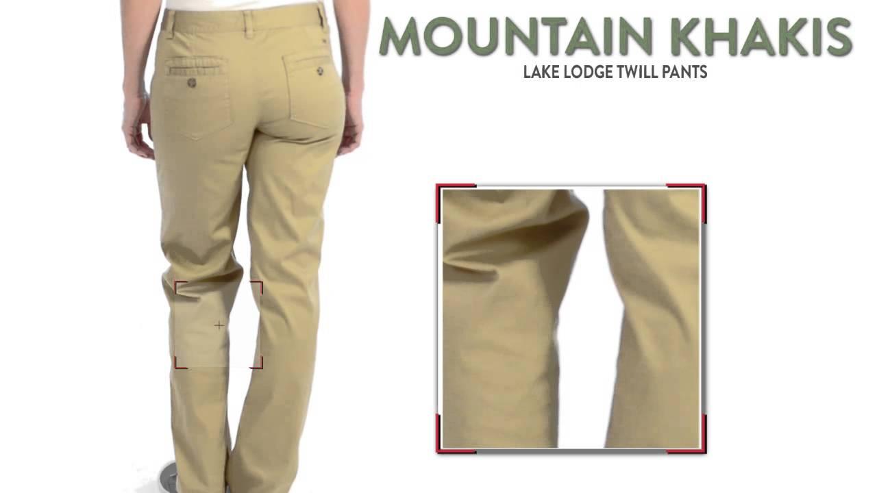 Mountain Khakis Lake Lodge Twill Pants (For Women) - YouTube