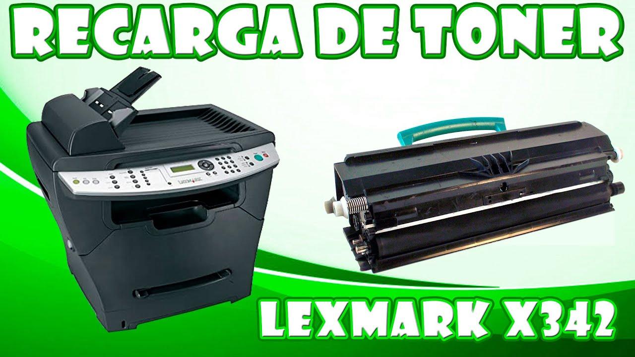 VIDEO INSTRUCTIVO PARA LA RECARGA  DE TONER  LEXMARK X342