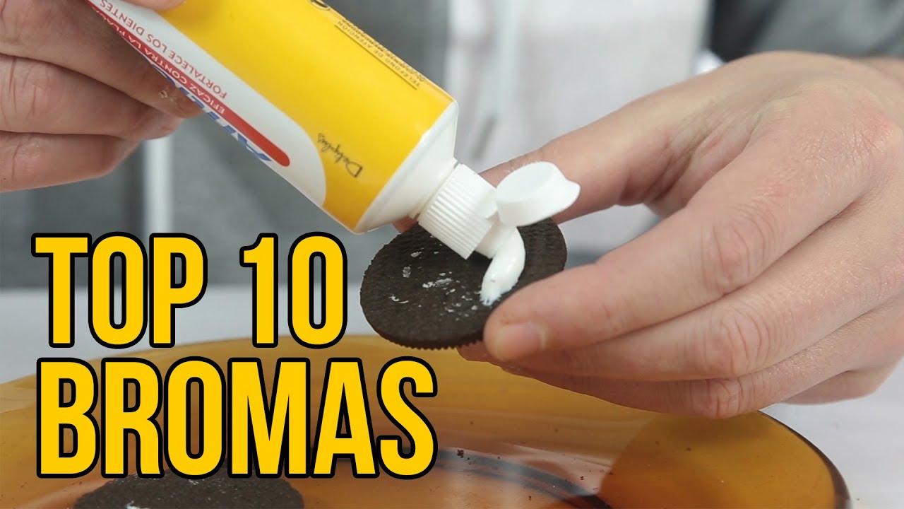 TOP 10 BROMAS 2016   Bromas para hacer a tus amigos (Recopilación)
