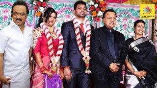 Stalin at Radha Ravi's cousin's daughter Wedding   Vasu Vikram, Vasugi   Latest Tamil News