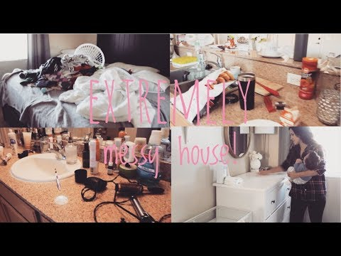 CLEANING MOTIVATION   EXTREMELY MESSY HOUSE!!   CLEANING ROUTINE   CLEAN WITH ME