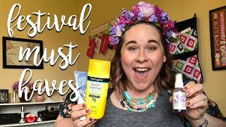 Festival Skincare & Makeup Must Haves