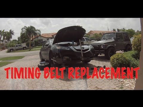 2010 Acura TL 3.5L Timing Belt Replacement DIY