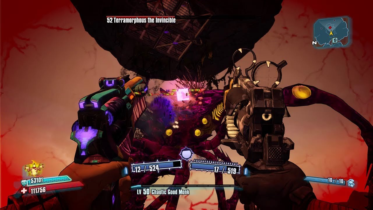 Borderlands 2 - Level 50 Salvador Solo Terramorphous Raid Boss