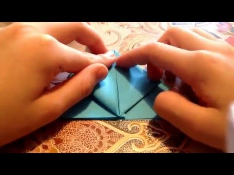 How to make an origami pyramid/tent