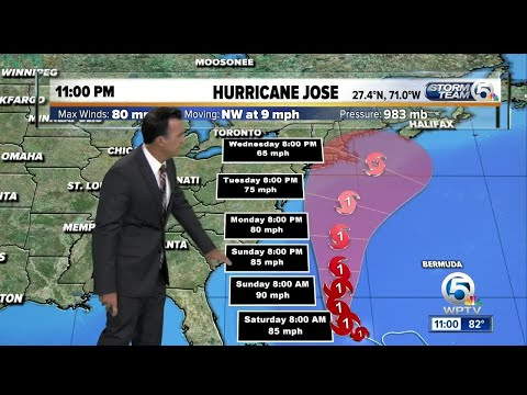 Hurricane Jose update: 9/15/17 - 11pm report